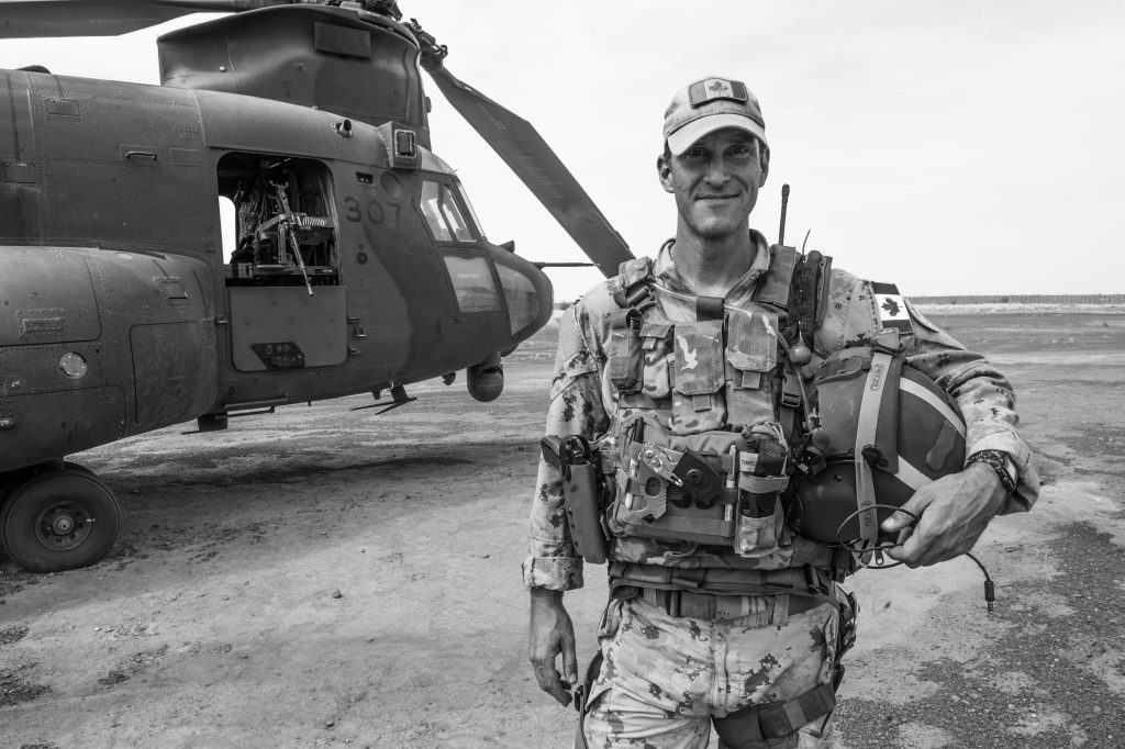 Major Andrew McLaren at Camp Castor in Gao, Mali