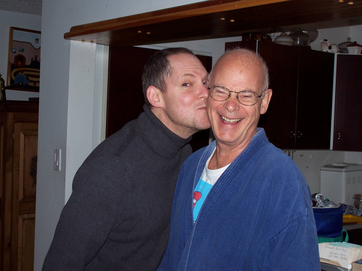 Me and my father sharing a laugh