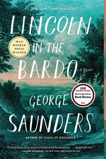 Book cover: Lincoln in the Bardo