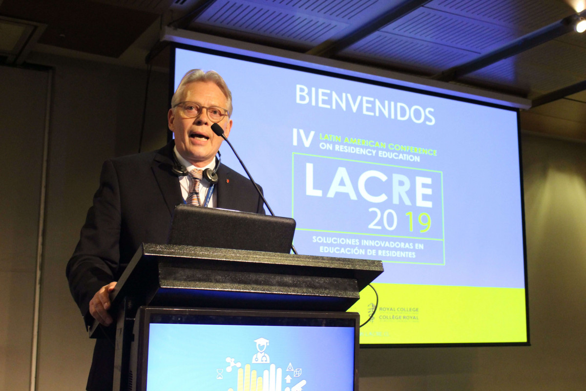 Royal College President M. Ian Bowmer, MDCM, FRCPC, at LACRE