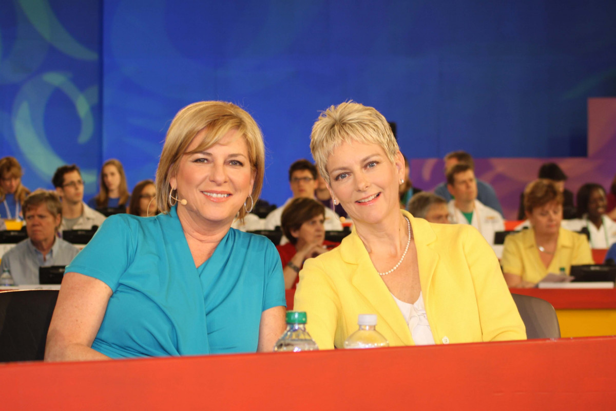 Dr. Spettigue with CTV News anchor Carol Anne Meehan during the annual CHEO telethon