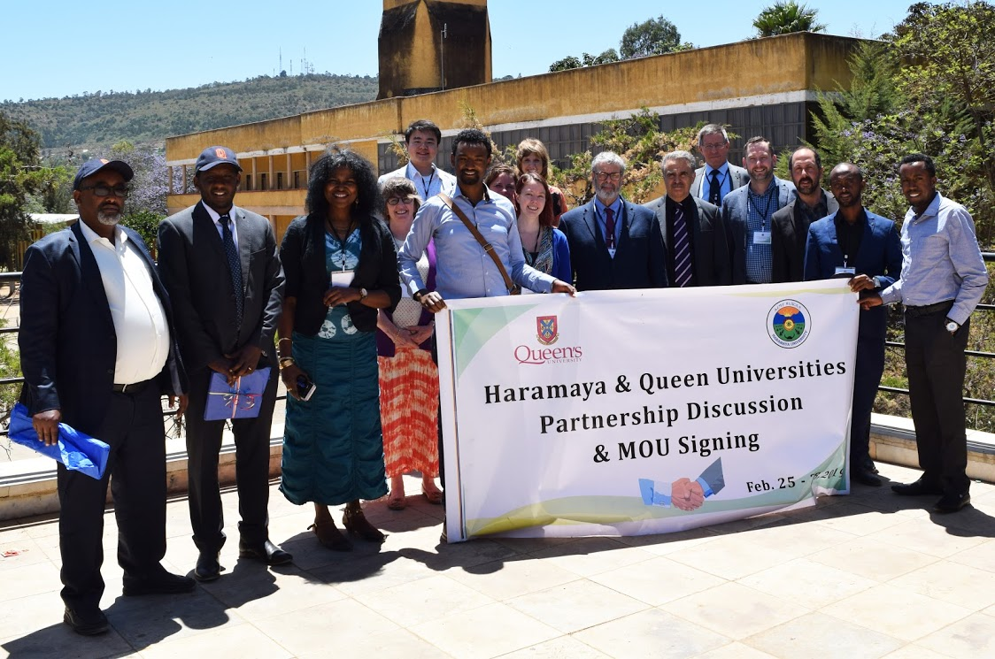 Group photo with the Haramaya University, Queen's University and RCI delegation (February 2019)