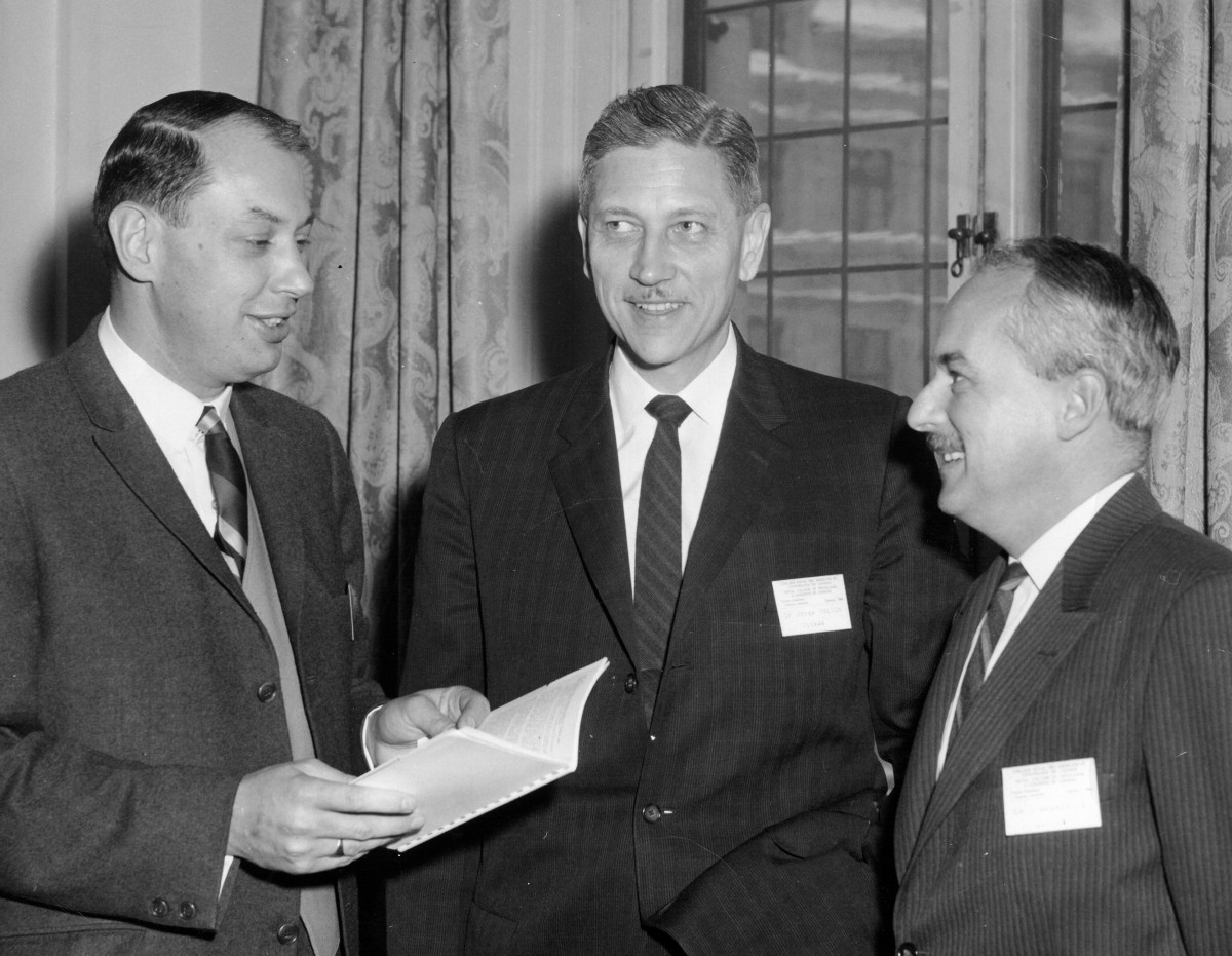 Annual meeting 1964. New members of Council. Dr. Goldberg is on the left.