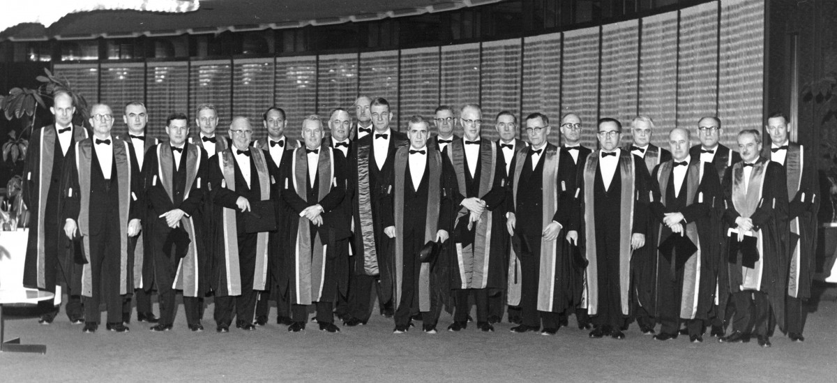 Council member (1970). Dr. Goldberg is the seventh from the left.