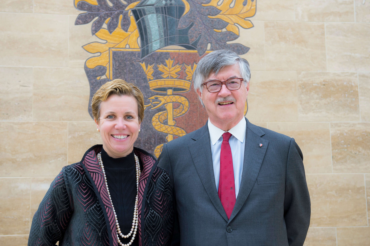 """What if"" and ""Why not""? Reflections on my 13 years as Royal College CEO - Photo of Dr. Padmos with Dr. Susan Moffatt-Bruce"