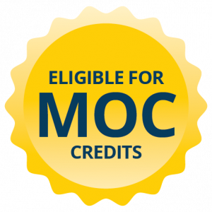Eligible for MOC credits button