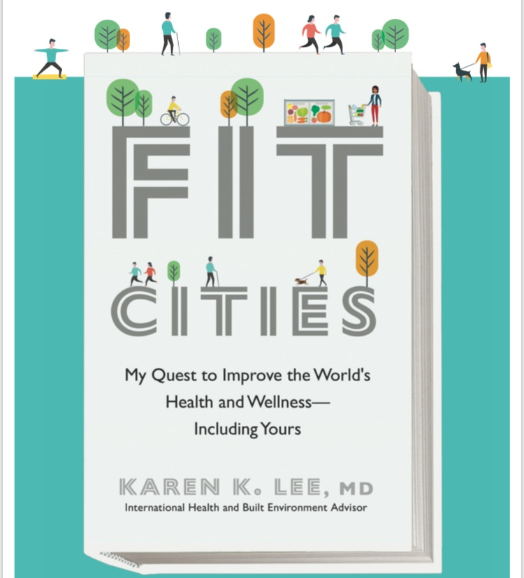 The cover of Dr. Lee's book, Fit Cities